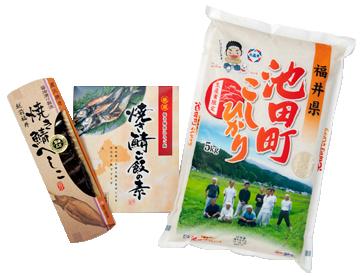 池田町コシヒカリ5kgと福井名産へしこ セット 年産