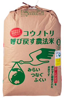 福井県産コウノトリ呼び戻す農法米こしひかり 玄米 令和元年産年産